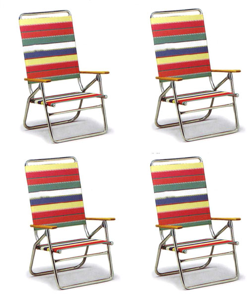 High Boy Folding Beach Chair by Telescope - Set of 4