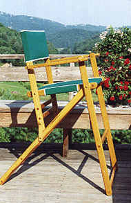 Oak Folding High Deck Chair