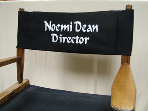 EMBROIDERED Personalized Replacement Canvas For Directors Chair (ROUND STICK)