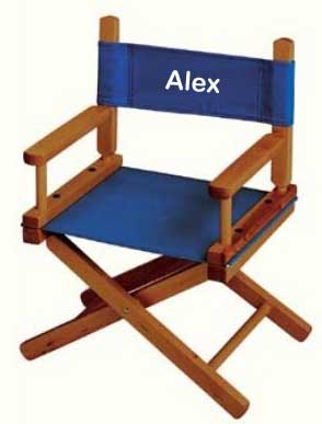 Great EMBROIDERED Personalized Toddler Directors Chair By Gold Medal