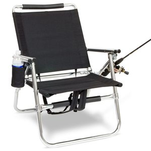 Backpack Fishing Chair with Cup and Rod Holder