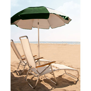 Frankford 6.5 foot Reflective Beach Umbrella with Tilt and White Aluminum Pole