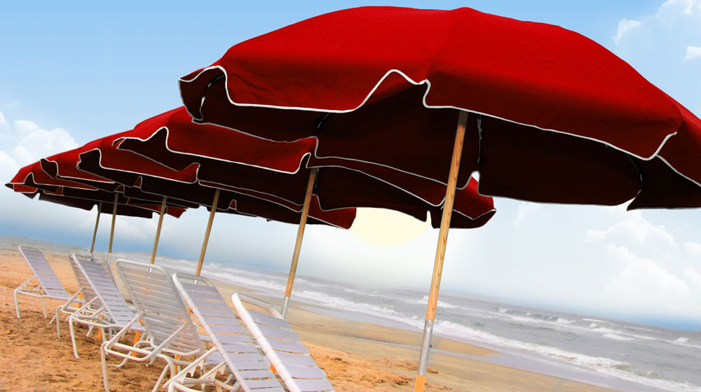 f7682f1ab4 Frankford Commercial Umbrella 7.5 ft. with Marine or Vinyl Fabric and Wood  or Aluminum Pole