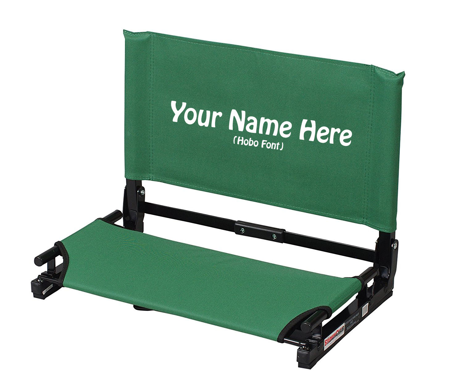 EMBROIDERED Personalized NEW Deluxe Wide Stadium Chair Gamechanger Bleacher Seat with Optional Arms