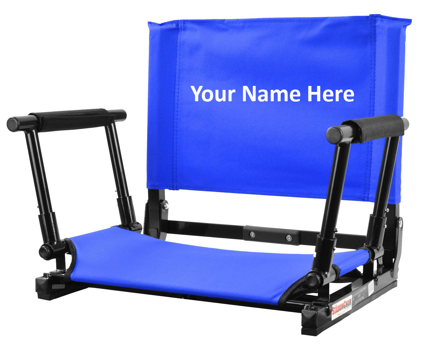 IMPRINTED Personalized NEW Stadium Chair Gamechanger Bleacher Seat with Optional Arms  sc 1 st  Everywhere Chair & IMPRINTED Personalized NEW Stadium Chair Gamechanger Bleacher Seat ...