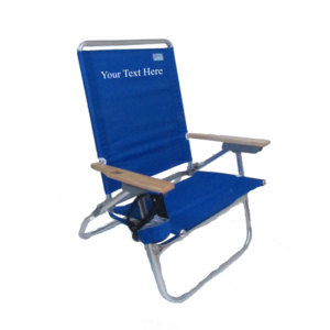 IMPRINTED Rio Beach 4 Position Easy In-Easy Out Beach Chair