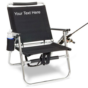 IMPRINTED Personalized Backpack Fishing Chair with Cup and Rod Holder