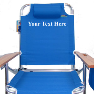 IMPRINTED Personalized Big Jumbo 4 Position Chair by JGR Copa