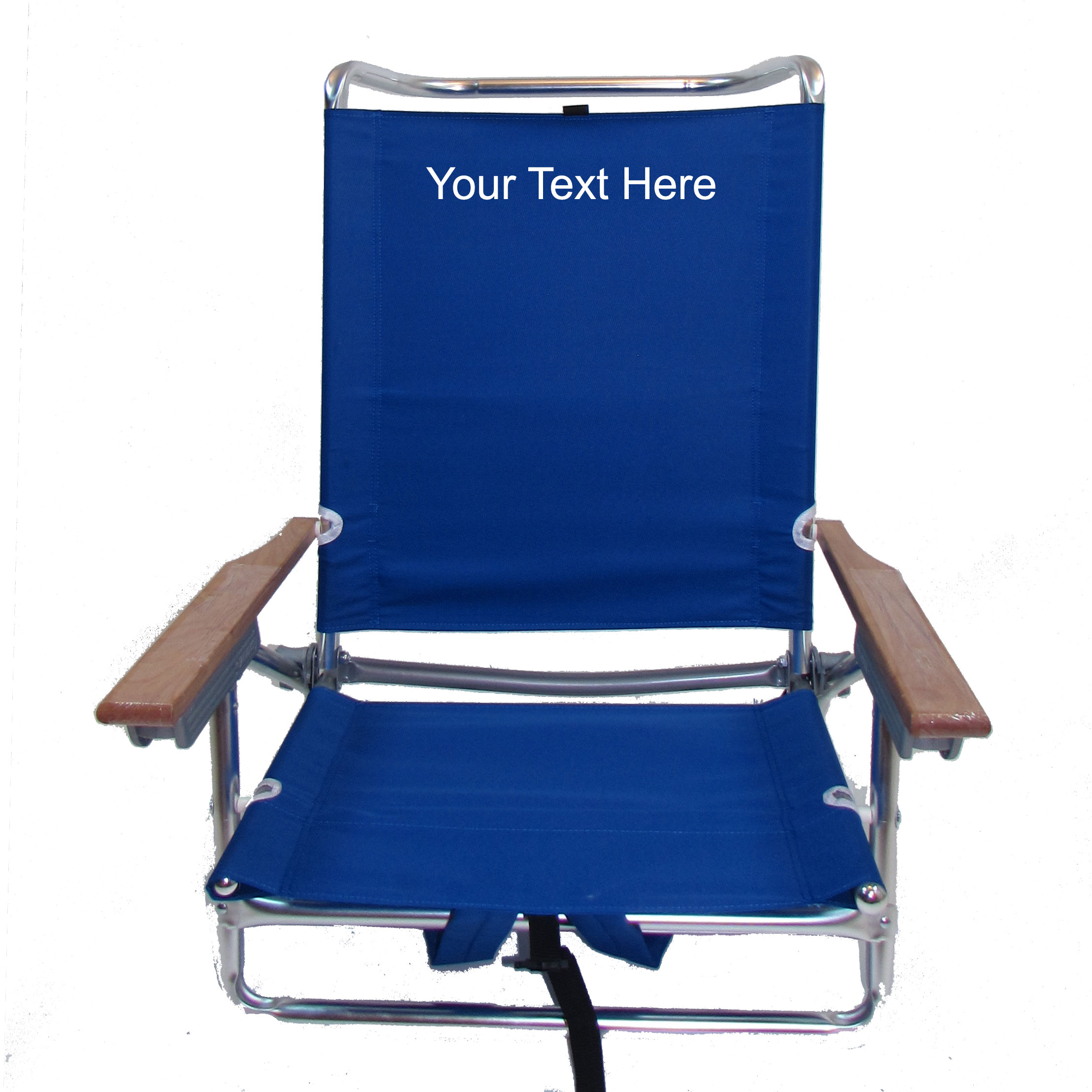 IMPRINTED Personalized Classic 5 Position Backpack Beach Chair by Rio Beach