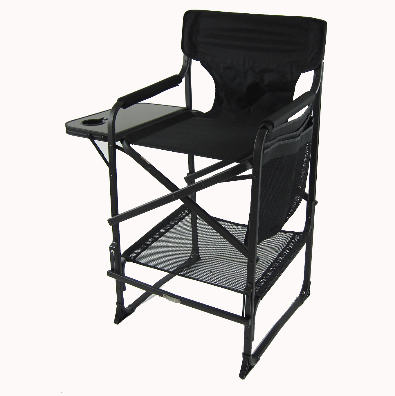 Heavy Duty Tall Directors Chair with Side Table by Pacific Imports