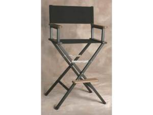 EMBROIDERED Personalized Monterey Aluminum Bar Height Directors Chair