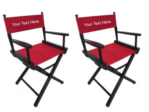 IMPRINTED Personalized Table Height Gold Medal Directors Chair 2 Pack