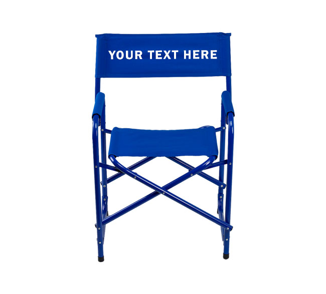 IMPRINTED Personalized All Aluminum 18 inch Directors Chair