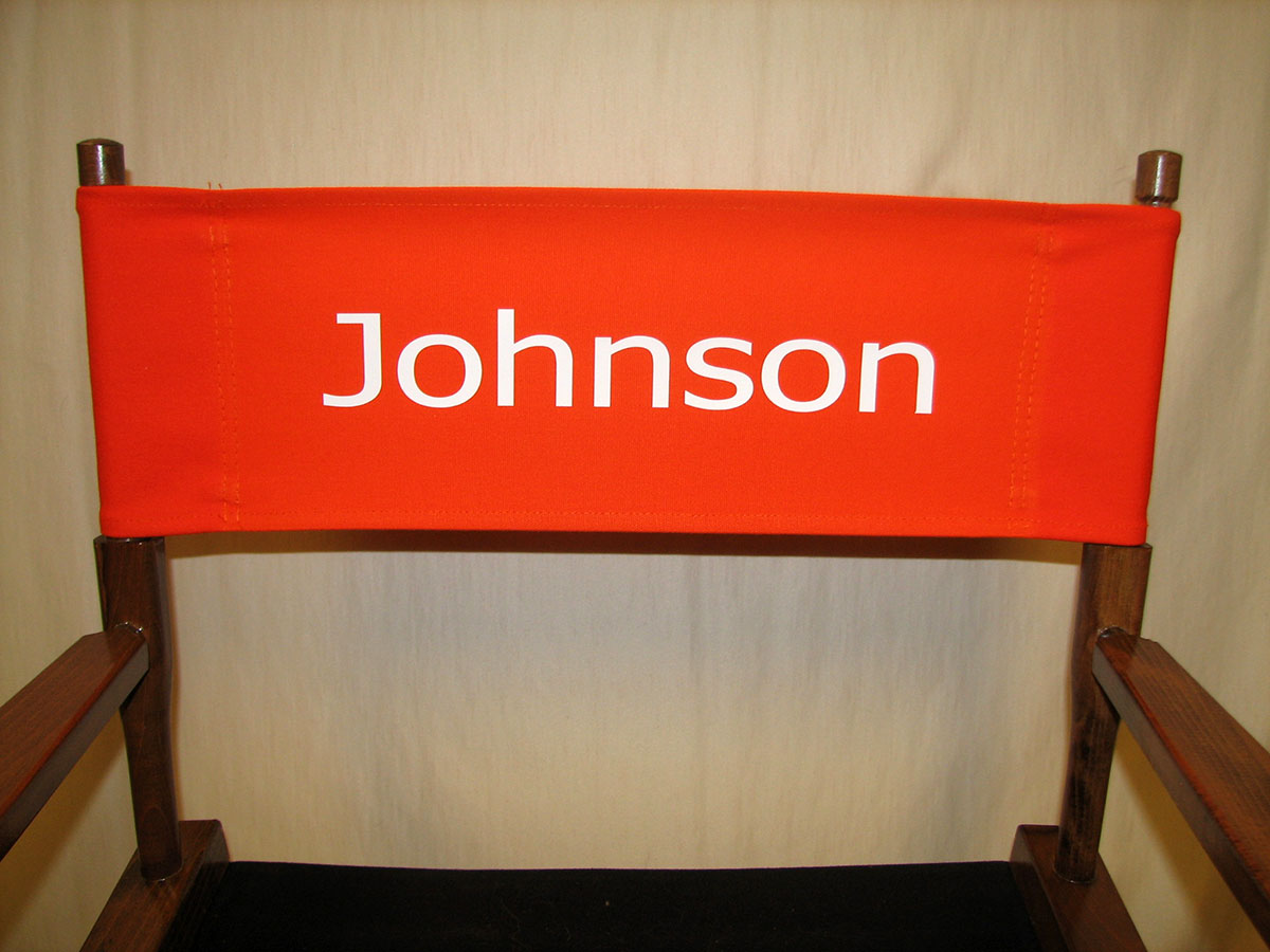 IMPRINTED Personalized Replacement Canvas For Directors Chair (FLAT STICK)
