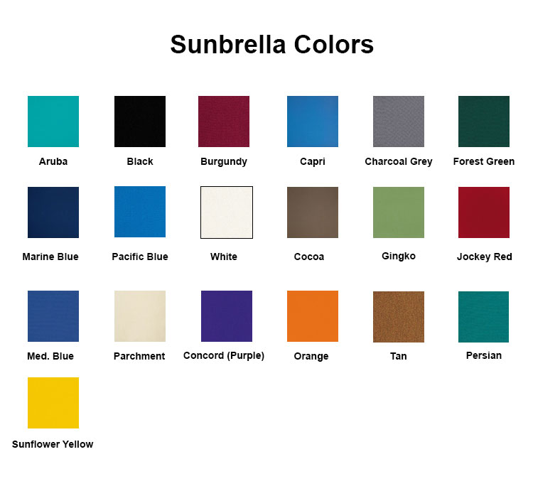 IMPRINTED Sunbrella Replacement Canvas for Directors Chairs (Flat Stick)