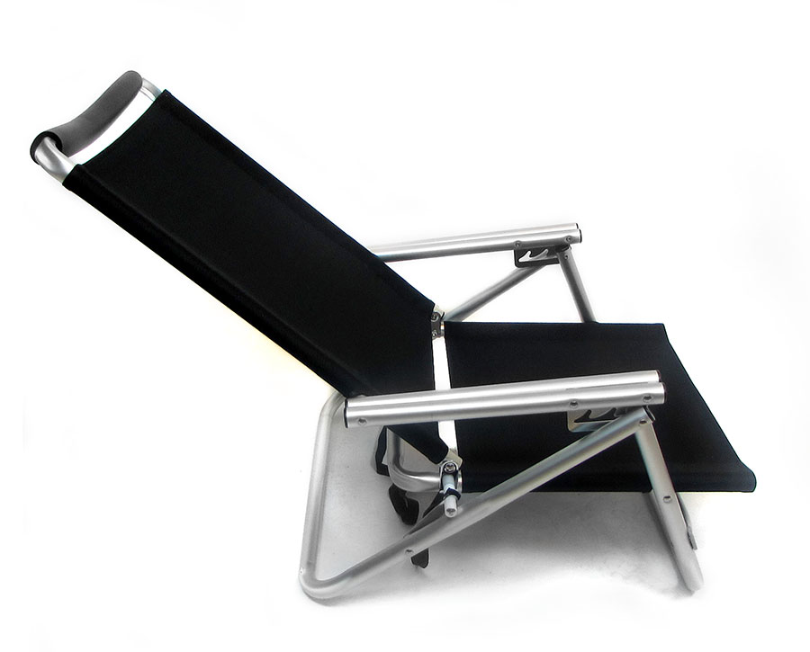 Low Boy 3 Position Reclining Aluminum Beach Chair