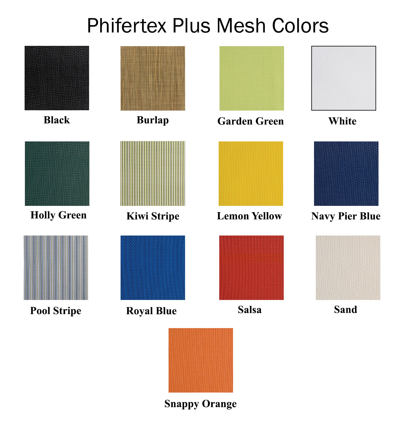 CUSTOM SIZE Phifertex Plus Mesh Directors Chair Replacement Cover