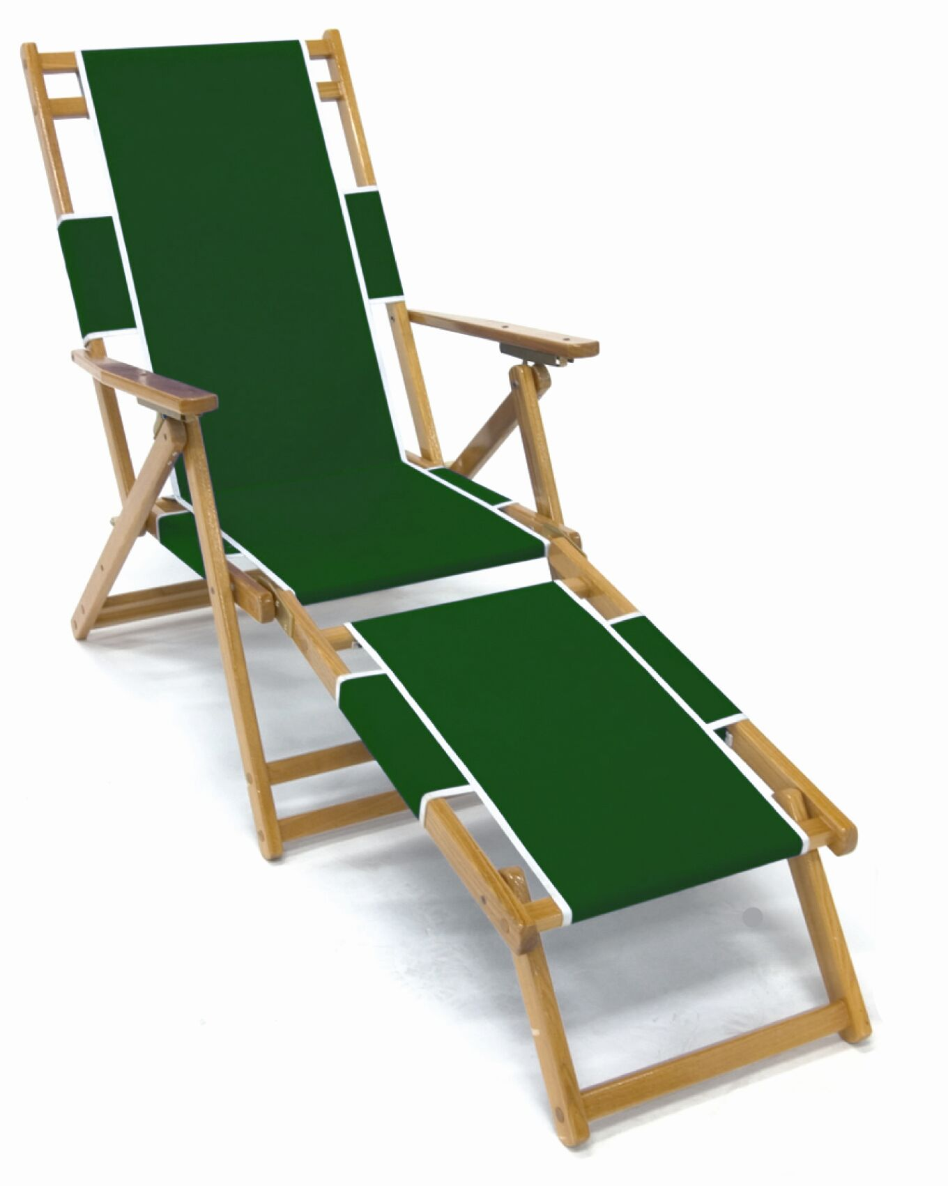 Frankford Oak Beach Chair with Detachable Legrest