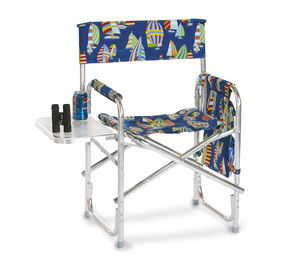 Portable Folding Chair with Side Table and Accessory Bag