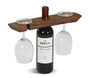 Wine Barrel Glass Caddy by Picnic Plus