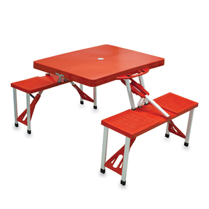 Folding Picnic Table with Seats by Picnic Time