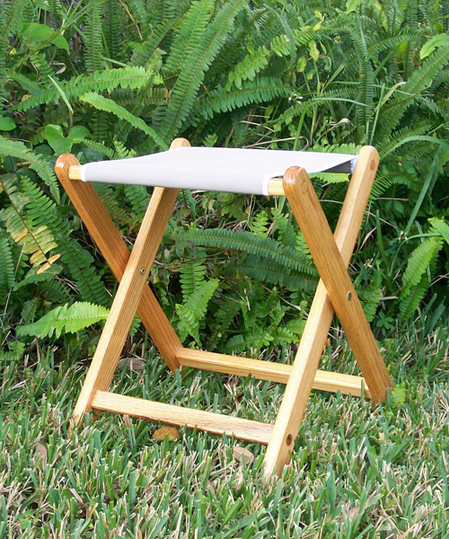 Oak Portable Folding Camp Stool