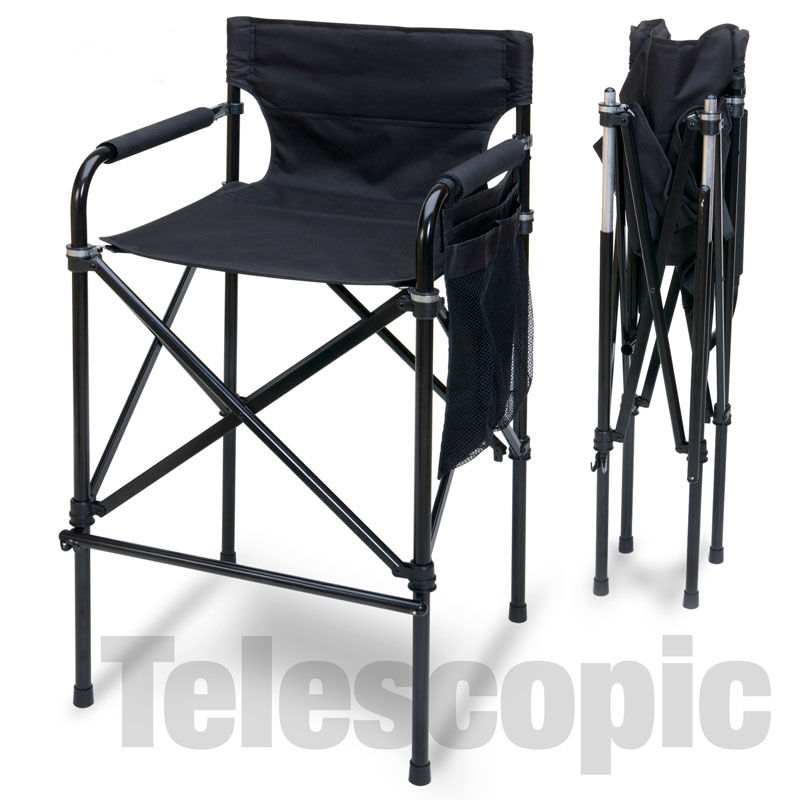 Quad Style Tall Aluminum Directors Chair Touch To Zoom