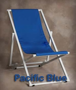 Aluminum Lounge Sling Chair by Sutton Bridge - Personalization Available