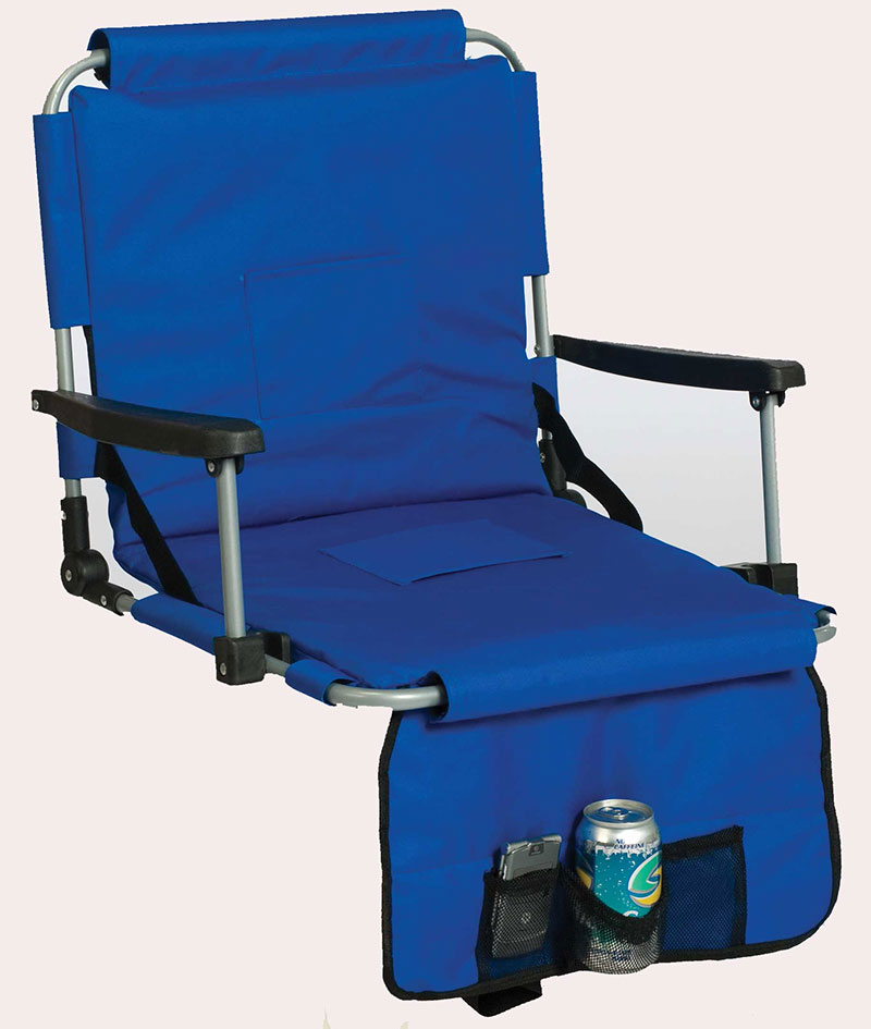 regular chair seat l blue bleacher reclining stadium chairs