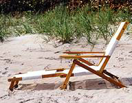 Oak Folding Mini Beach Lounge Chair