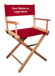 EMBROIDERED Personalized 18 inch Table Height COMMERCIAL Directors Chair  sc 1 st  Everywhere Chair & Custom Embroidered Directors Chair | Everywherechair