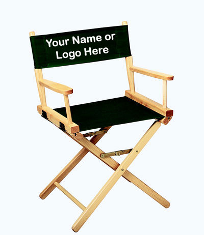 IMPRINTED Personalized 18 inch Table Height CONTEMPORARY Directors Chair