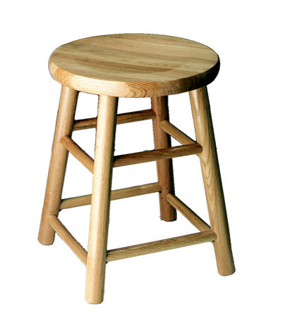 Table Height 18 Inch Commercial Solid Oak Bar Stool