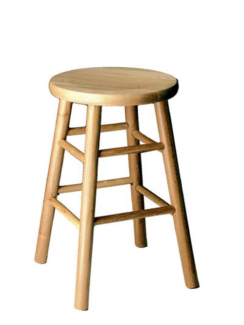 Counter Height 24 inch Commercial Solid Oak Bar Stool