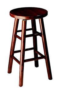 Counter Height 24 inch Oak Top Swivel Bar Stool